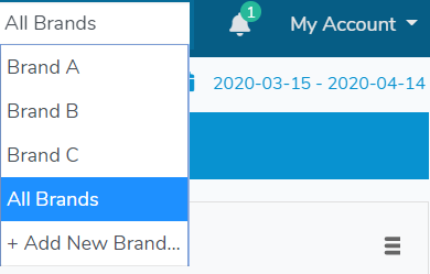 "Select ""All Brands"" from the drop-down menu"